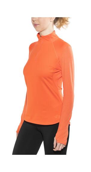 The North Face Motivation 1/4 Zip L/S Shirt Women Nasturtium Orange